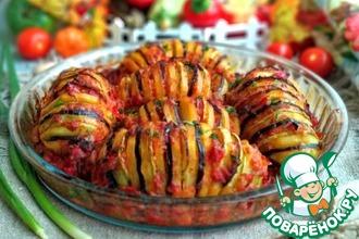 Рецепт: Запечённый картофель Рататуй