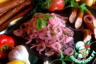 Рецепт: Маринованный лук к мясу