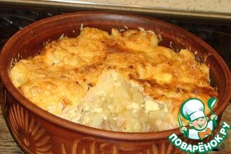 Рецепт: Картофель под сырной корочкой
