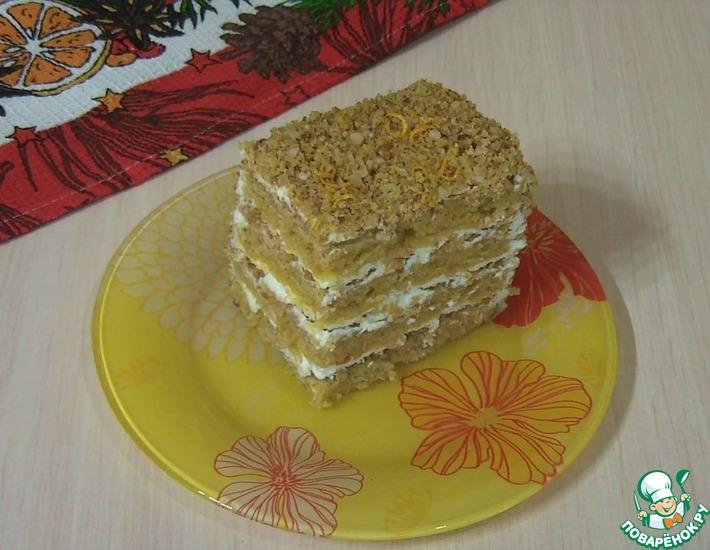 Рецепт: Тыквенный пряный торт Осенний