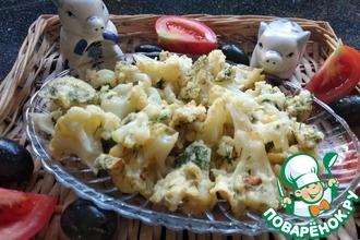 Рецепт: Цветная капуста с яйцами и зеленью