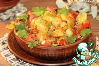 Рецепт: Жаренные овощи с сухарным картофелем