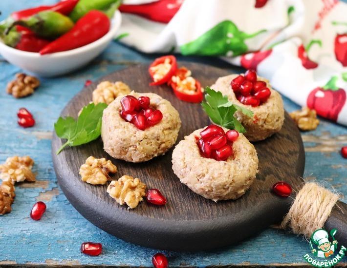 Рецепт: Пхали из баклажанов с грибами
