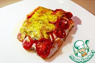 Рецепт: Филе красной рыбы в духовке