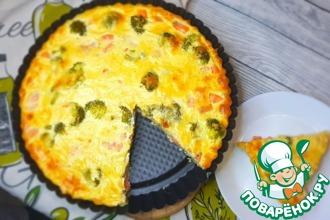 Рецепт: Пирог Киш с рыбой и брокколи