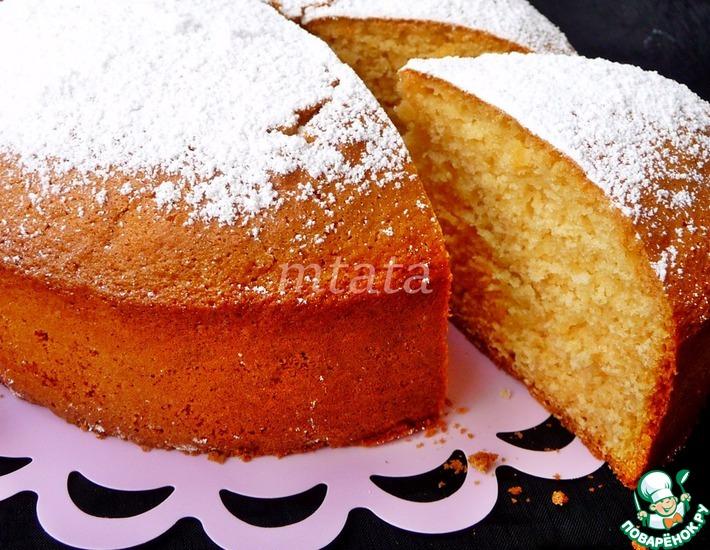Рецепт: Быстрый сливочный пирог