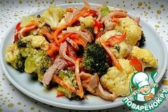 Рецепт: Овощи в сливочно-сырном соусе