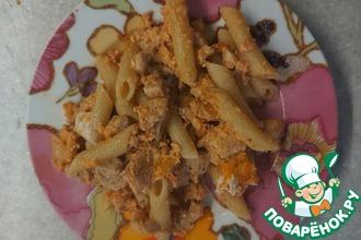 Рецепт: Куриная грудка с макаронами 🍝