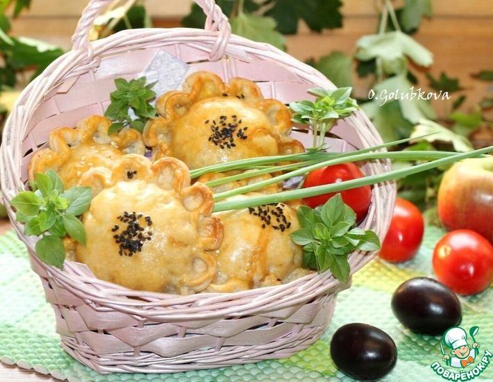 Рецепт: Закусочные пироги с индейкой и овощами