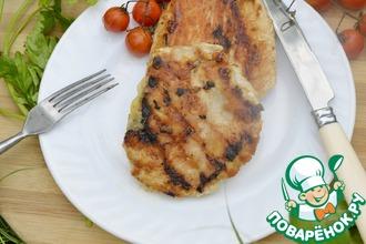 Рецепт: Индейка-гриль в маринаде с сыром