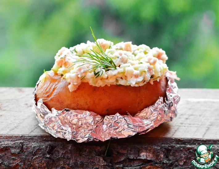 Рецепт: Крошка картошка с колбасой и сыром
