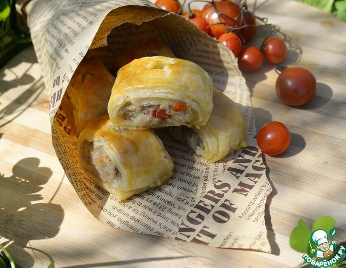 Рецепт: Слойки с фаршем из индейки Пикник