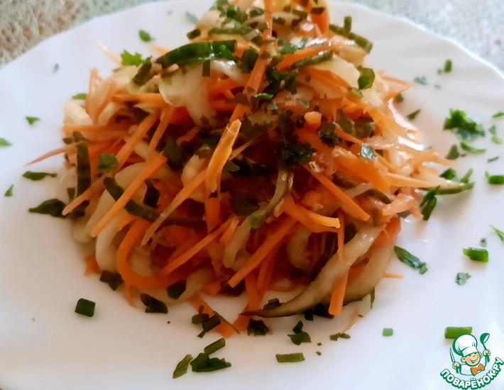 Рецепт: Салат из моркови и огурца в азиатском стиле