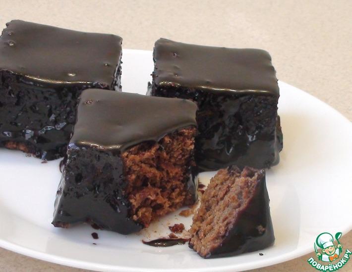 Рецепт: Шоколадный пирог с глазурью