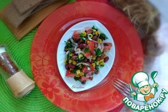 Рецепт: Овощной салат-закуска с красной фасолью