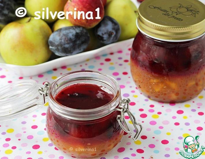 Рецепт: Слоеный конфитюр из яблок и сливы