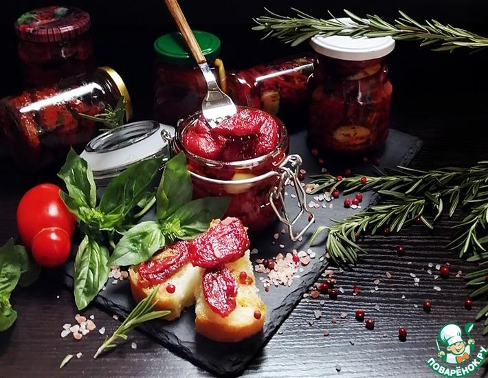 Рецепт: Вяленые помидоры без кожицы