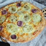 Лепёшка с сыром и луком