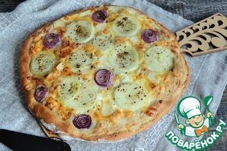 Рецепт: Лепёшка с сыром и луком
