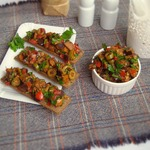 Овощная закуска из баклажан и оливок