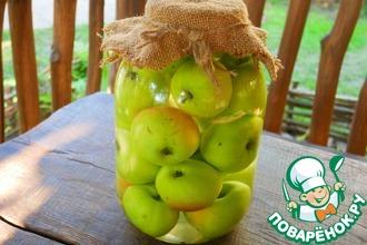 Рецепт: Моченые яблоки на зиму