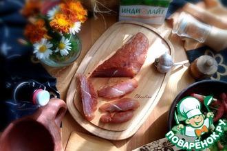 Рецепт: Балык из филе индейки