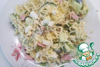 Рецепт: Весенний салат с вермишелью быстрого приготовления