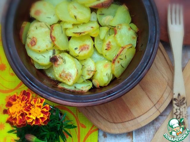 Запечённый картофель с розмарином