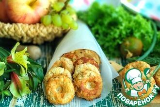 Рецепт: Пончики из индейки с творогом