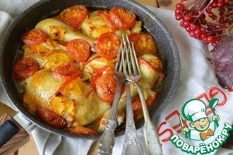 Рецепт: Курица с овощами в ароматном соусе