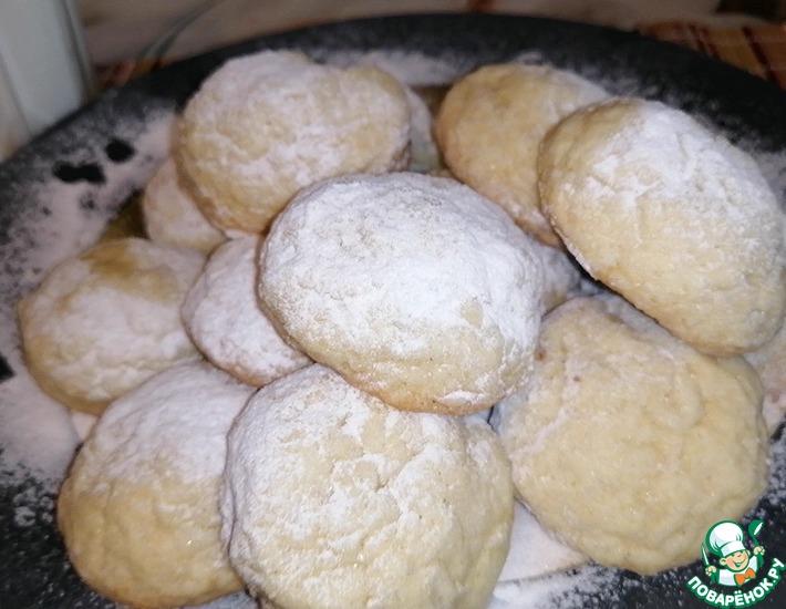 Рецепт: Кокосовое печенье к чаю с урбеч