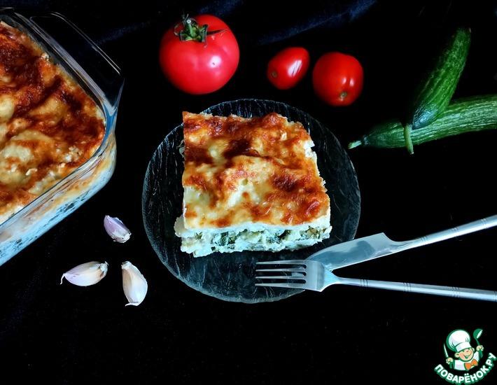 Рецепт: Лазанья с капустой и сыром
