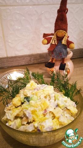Салат с запеченной свининой