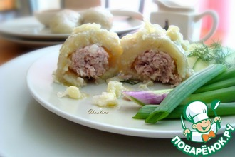 Рецепт: Традиционное литовское блюдо Цеппелины