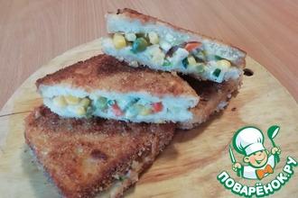 Рецепт: Сэндвич c курицей в домашних условиях