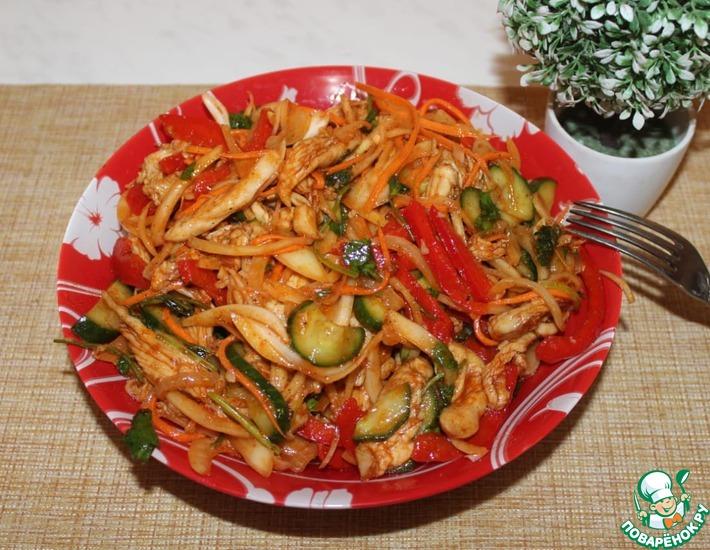 Рецепт: Хе из курицы по-корейски