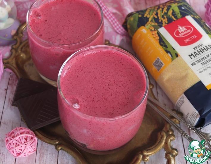 Рецепт: Десерт из манки и ягод