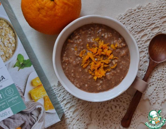 Рецепт: Апельсиново-шоколадная каша