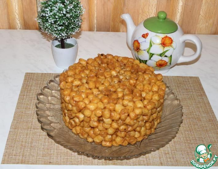 Рецепт: Торт из кукурузных палочек и сгущённого молока