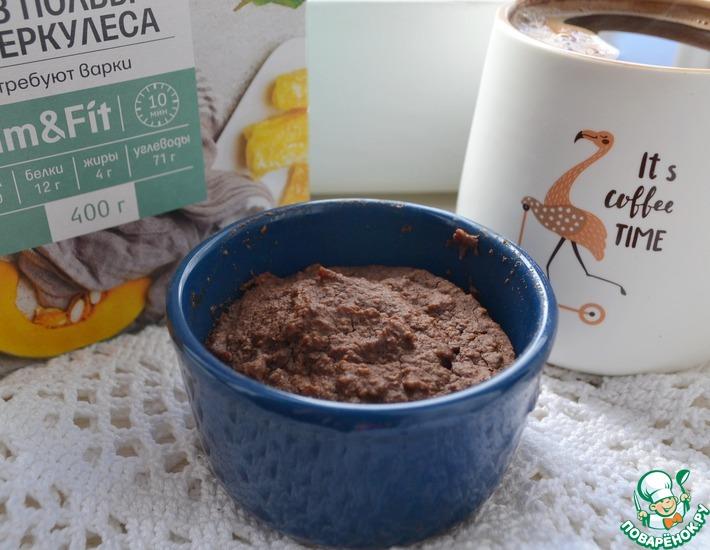 Рецепт: Шоколадный кекс в кружке