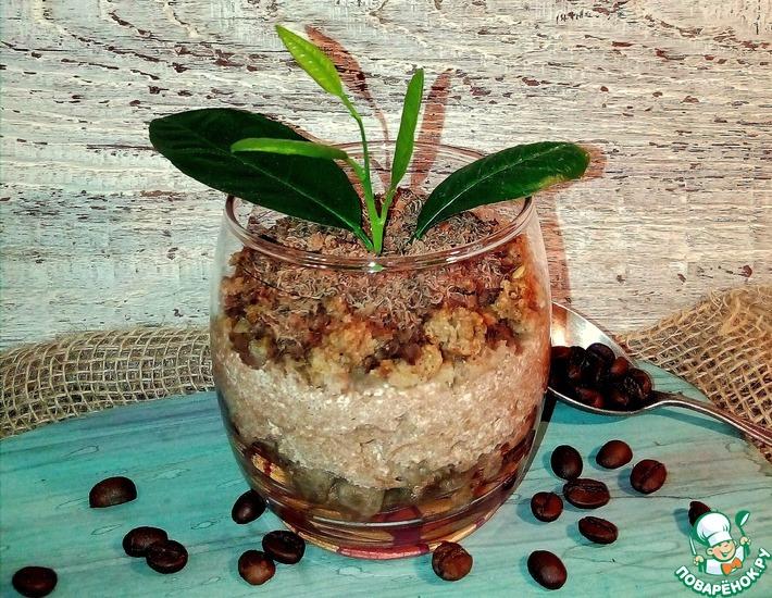 Рецепт: Десерт творожно-шоколадный Весенняя рассада