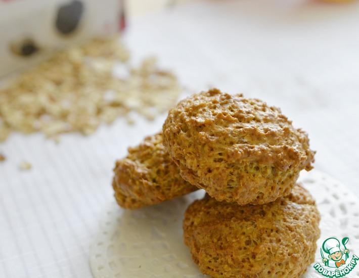 Рецепт: Постное апельсиновое печенье из хлопьев
