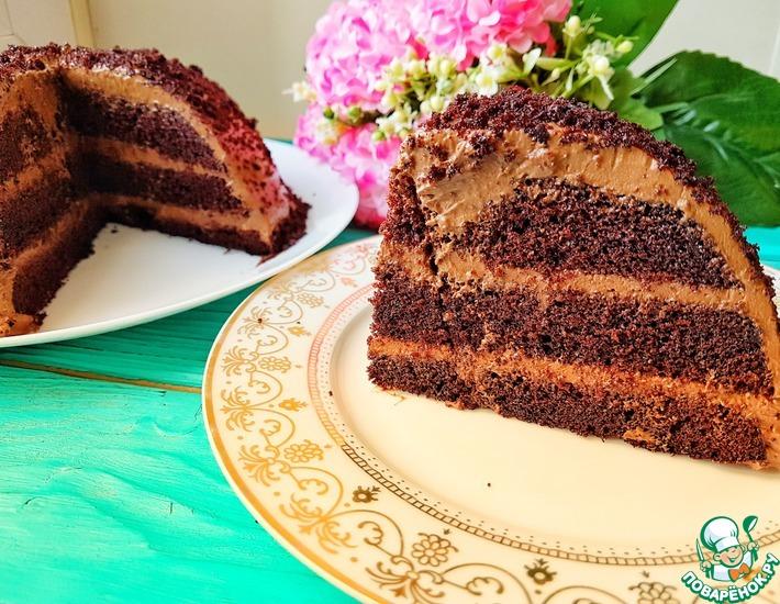 Рецепт: Быстрый воздушный торт без миксера