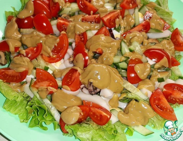 Рецепт: Cалат из морепродуктов