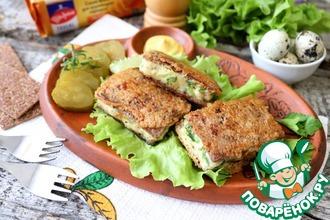 Рецепт: Закусочные куриные котлеты в хлебцах