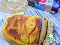 Кулебяка с шампиньонами и рисом ингредиенты