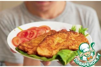 Рецепт: Куриное филе в сметанном кляре