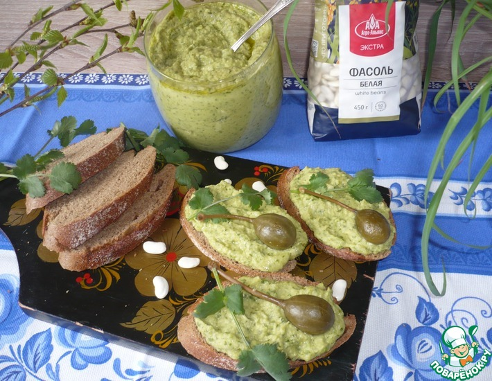 Рецепт: Паста из белой фасоли с авокадо