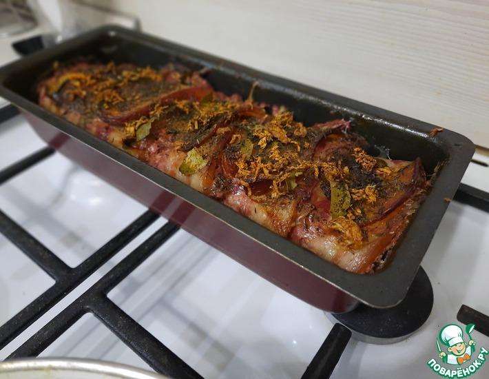 Рецепт: Террин из куриной печени и филе