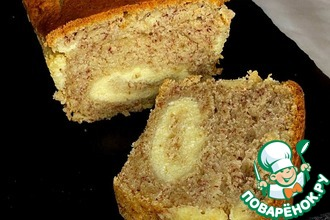 Рецепт: Банановый хлеб с творожной начинкой